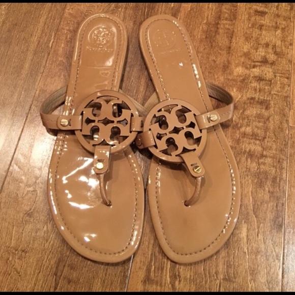 f590a246abf Tory Burch Miller Sandal Nude Patent size 13. M 5a45725a5512fd8e2a0e873a